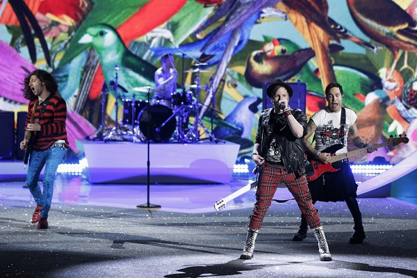 Fall Out Boy performing at the Victoria Secret Fashion Show 2013