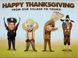 Fergie & Josh Duhamel, Thanksgiving Greetings 2013