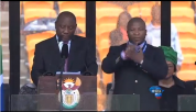 "The sign language interprter at Nelson Mandela's memorial service has blamed schizophrenia for his ""gibberish"" gestures"