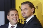 "Cast members Leonardo DiCaprio (R) and Jonah Hill arrive for the premiere of the film ""The Wolf of Wall Street"" in New York in this file photo from December 17, 2013."
