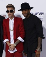 Justin Bieber at the 'Believe' world premiere in LA