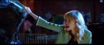 "Gwen angrily shouts Peter's name after he sticks her to a car in 'The Amazing SPider-Man 2."" The moment could potentially compromise his secret identity"