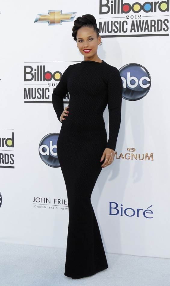 Alicia Keys at the 2012 Billboard Music Awards 2012