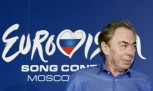 English composer Andrew Lloyd Webber attends a news conference ahead of the Eurovision Song Contest final in Moscow May 15, 2009.