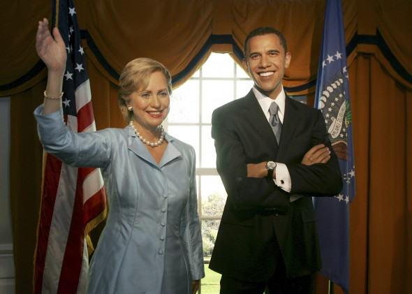 barack-obama-and-hillary-clinton-wax-figures
