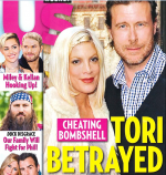 Us Weekly cover claiming Dean mcDermott cheated on wife Tori Spelling