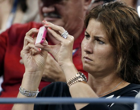 Roger Federer's wife Mirka