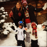 Mariah Carey INstagram photo Christmas 2013 with Nick Cannon and Twins Monroe and Moroccan