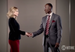Jeannie and Marty shake hands in House of Lies