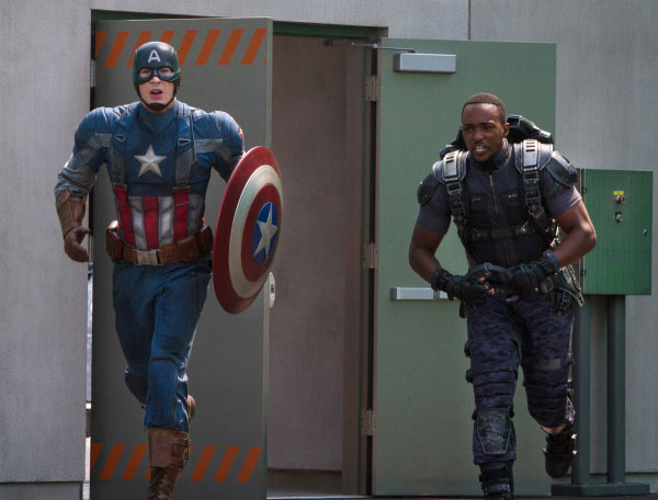 Captain America and the Falcon in 'Captain America: The Winter Soldier'