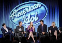 Ryan Seacrest, Keith Urban, Jennifer Lopez, Harry Connick, Jr., and executive producer Trish Kinane