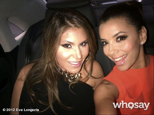 Eva Longoria Twitter Photos at Glamour Awards in London