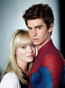 Emma Stone and Andrew Garfield in a promotional photo for 'The Amazing Spider-Man 2'