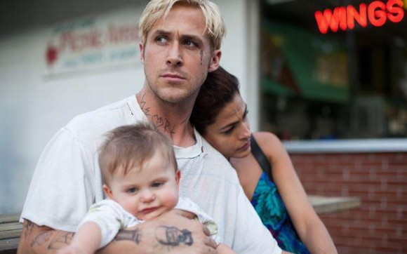 Ryan Gosling and Eva Mendes in a scene from 'The Place Beyond the Pines.' The couple met on the set of the film in 2011