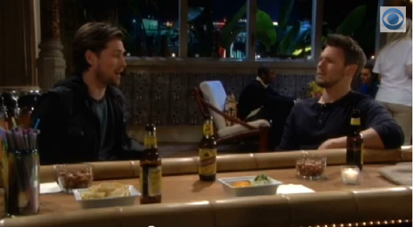 Liam and Oliver talk at Bikini Bar on 'The Bold and the Beautiful'