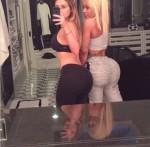 Kim Kardashian and Chyna Blac