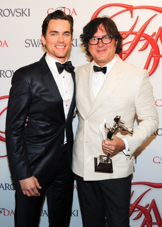 Matt Bomer with menswear designer of the year Billy Reid.