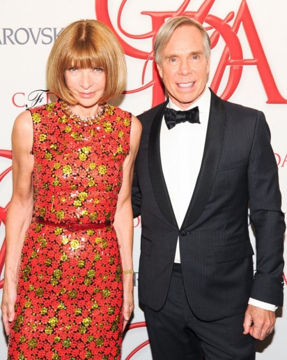 Anna Wintour with Lifetime Achievement Award Honoree Tommy Hilfiger.