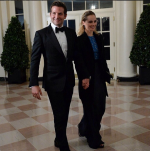 Bradley Cooper and Suki Waterhouse at the White House State Dinner 2014