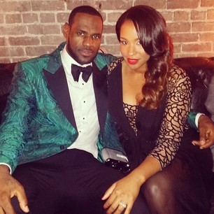 LeBron James, Wife Savannah Brinson