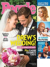 The photo of Drew Barrymore's wedding released by People magazine today boosted rumors that the 37-year-old actress is pregnant.