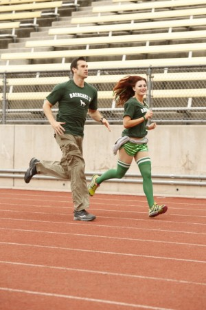 Brendon Villegas and Rachel Reilly race to the starting line of 'The Amazing Race' Season 24