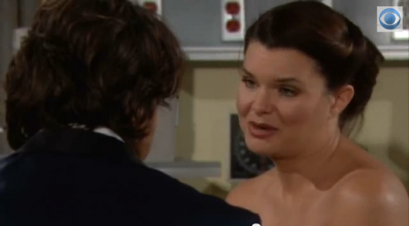Katie and Ridge talk at the hospital on 'The Bold and the Beautiful'