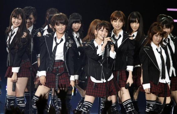 Japanese idol group AKB48 performs during the MTV Video Music Aid Japan in Chiba, near Tokyo June 25, 2011.