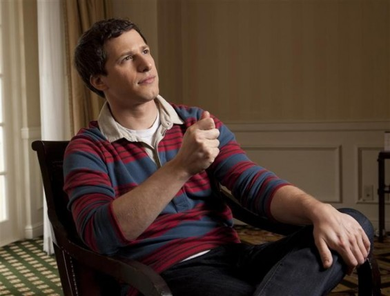 "Actor Andy Samberg poses for a portrait as he promotes the film ""That's My Boy"" at the Four Seasons in Beverly Hills, California June 2, 2012."