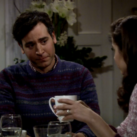 The moment Ted begins to cry after The Mother comments on moms attending their daughter's wedding on 'HIMYM'