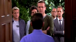 "Marshall, Barney, Ted, Ranjit and Billy Zabka Confront The Captain on 'HIMYM' Episode 9.19 ""Daisy"""