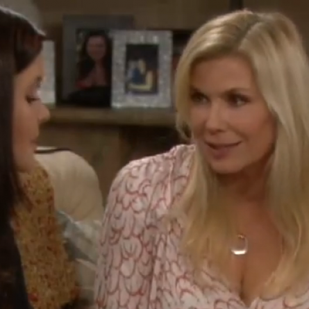 Brooke tells Katie she doesn't feel insecure over her feelings for Ridge on 'The Bold and the Beautiful'