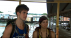Meghan Camarena and Joey Graceffa after elimination in Malaysia during 3rd leg of 'Amazing Race: All-Stars'