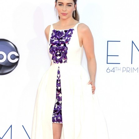 Emilia Clarke at the 2012 Emmy Awards