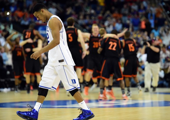 duke, Mercer Upset NCAA Men's Tournament 2014