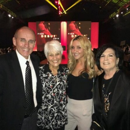 Amanda Bynes with her parents at the FIDM Debut Runway Show March 21, 2014