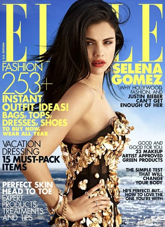 "Selena Gomez covers ""Elle"" Magazine July issue."