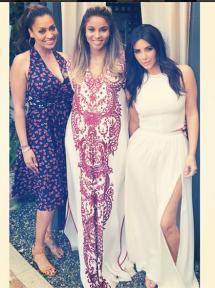 Ciara, Lala, Kim Kardashian