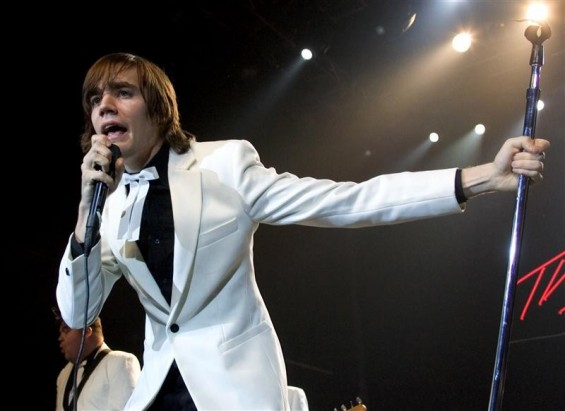 Singer Howlin&#039; Pelle Almqvist of The Hives performs at The Joint inside the Hard Rock Hotel & Casino in Las Vegas, Nevada in this January 15, 2005 file photo.