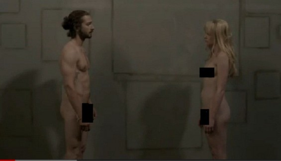 Shia LaBeouf appeared naked in the music video of Sigur Rs&#039; &#034;Fjgur Pan by film director Alma Har&#039;el.