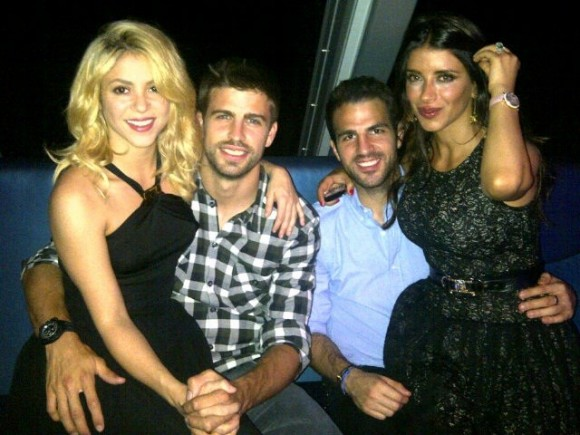 Shakira , Gerard Pique and friendson June 16.