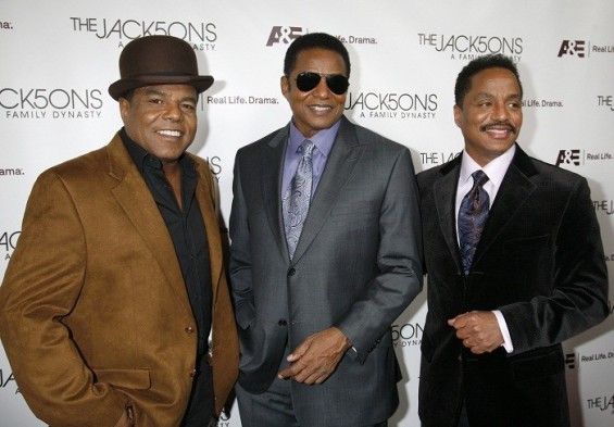 Brothers Tito Jackson (L-R), Jackie Jackson, and Marlon Jackson arrive at the launch party for &#034;The Jacksons: A Family Dynasty&#034; reality show in Hollywood, California December 9, 2009.