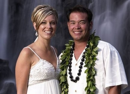 """Jon Gosselin and Kate when they were happily married and featured on TLC's """"Jon & Kate Plus 8.'"""