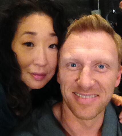 10 Spoilers  Sandra Oh Posts Photo From Last Scenes With Kevin McKiddKevin Mckidd And Sandra Oh