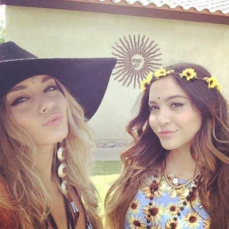 Vanessa Hudgens and Sister