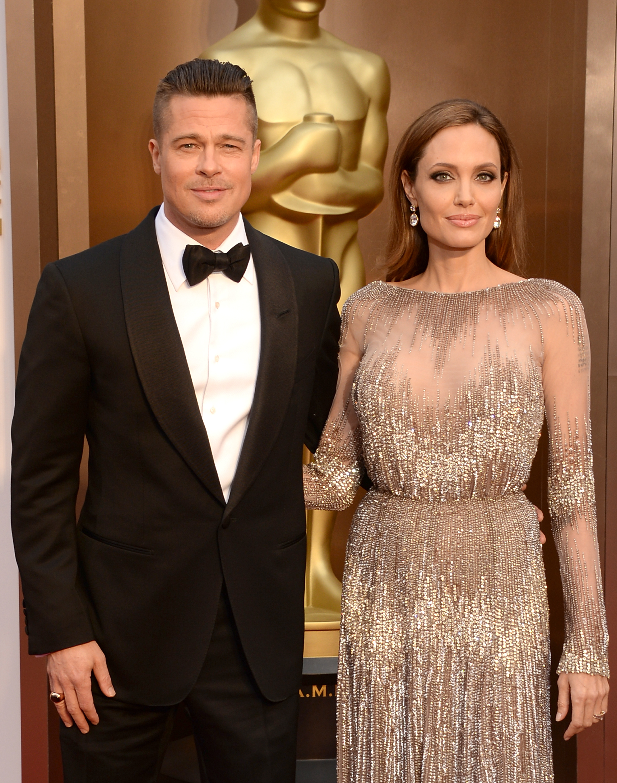 Brad And Angelina 2014 Oscars