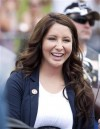 Bristol Palin, daughter of Sarah Palin, former governor of Alaska, smiles before taking part in the Rolling Thunder motorcycle ride to honour U.S. veterans in Washington May 29, 2011. Palin competed i