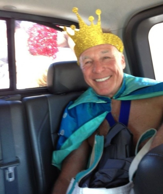 Jackie Martling dressed as King for the 2012 Mermaid Parade