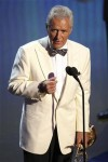 Television host Alex Trebek accepts the Lifetime Achievement Award during the 38th Annual Daytime Entertainment Emmy Awards at the Las Vegas Hilton in Las Vegas, Nevada, June 19, 2011.