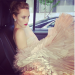 Suki Waterhouse on her way to the 2014 Met Ball